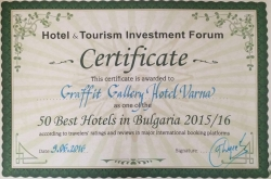 Хотел-галерия Графит  с награда в класацията Best Hotels in Bulgaria 2015/2016